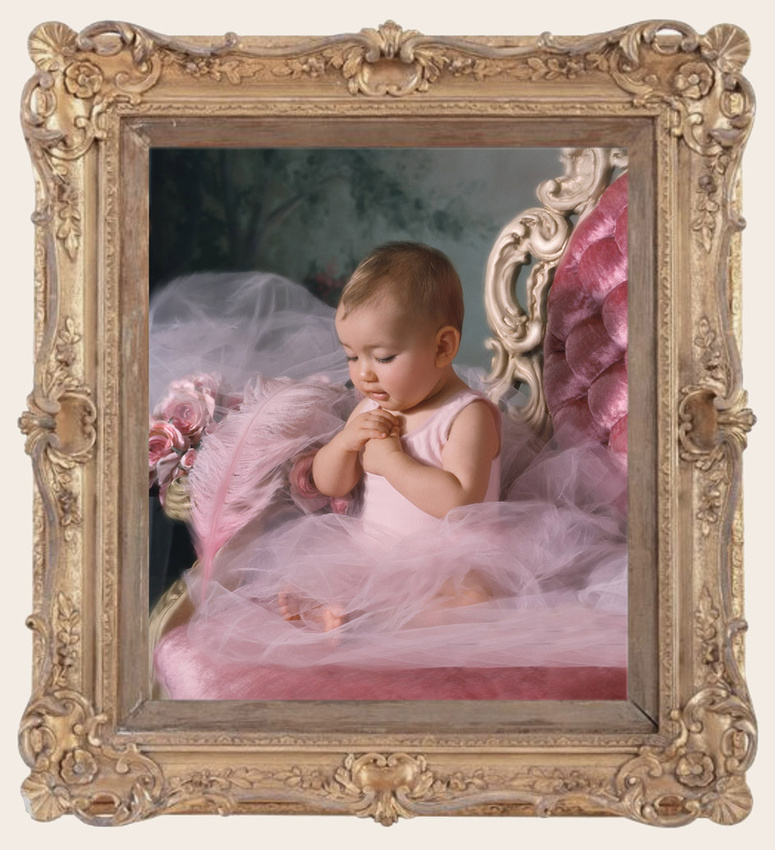 Portrait Perfection - Baby, pink tutu, tulle, roses